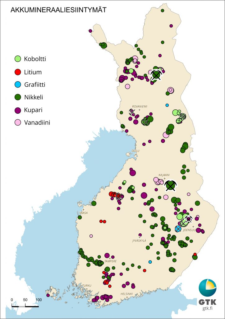 Suomen akkumineraaliesiintymät